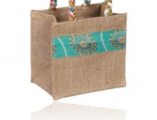 Box bag, sari handles