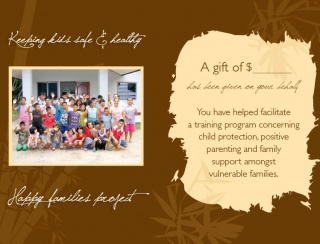 Donation Gift Card - Families