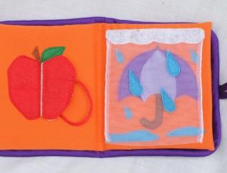 Mini Purple Interactive Cloth Book