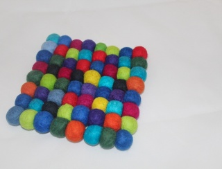 Felt Ball Hot Pad