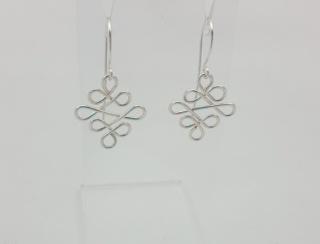 Silver Eternity Knot Earrings