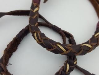 Braided Leather Wristband