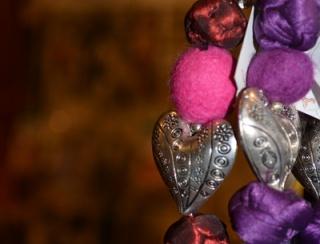 Heart and Felt Keyring