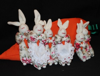 Rabbit Family in a Carrot