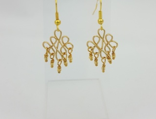 Brass Peacock Eternity Earrings