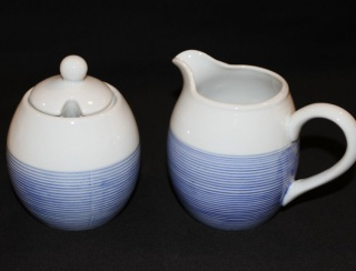 Sugar Bowl and Creamer